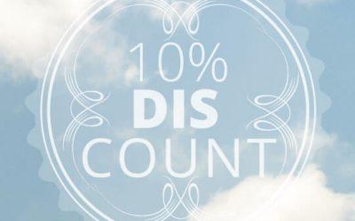 Frühbucherangebot 10%